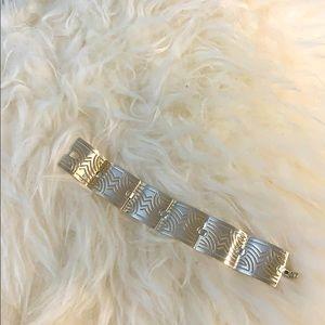 New Ferragamo sterling silver link bracelet